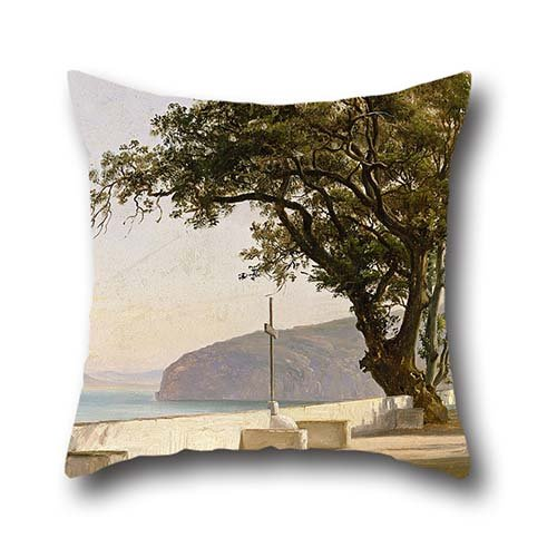 Fearnley - Terrace With Oak, Sorrento Throw Cushion Covers 20 X 20 Inch / 50 By 50 Cm Gift Or Decor For Bf,festival,home Office,kids Boys,pub,wedding - Double Sides (Terrace 20 Light)