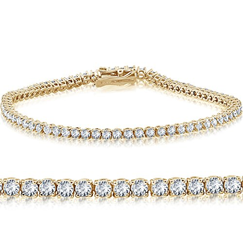 Diamond Tennis Bracelet Yellow Gold – JewelryDealsNow.net