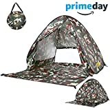 Monojoy Automatic Pop Up Beach Tent Instant Portable Outdoor Quick Cabana Anti UV Sun Shelter Folding Beach Shade Canopy 2-3 Person Easy Up Beach Tents Lightweight for Hiking Camping