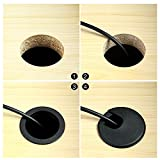 """8 Pcs 2"""" Black Desk Grommet Plastic Wire Organizer"""