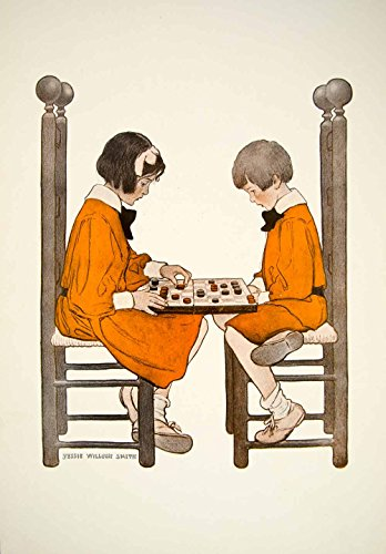 1908-print-jessie-willcox-smith-friendly-game-children-playing-checkers-tfp1-original-color-print