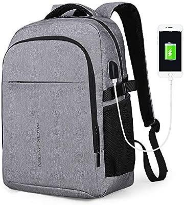 MARK RYDEN Mochila para portátil Mochila de Negocios Impermeable para Hombre Mochila Escolares con Puerto de USB para Ordenador 17,3/15.6 Pulgadas ...