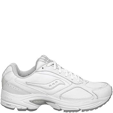 Saucony De los hombres Grid Omni Walking Shoe,WhiteSilver,13 M