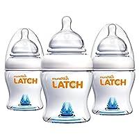 Botella Munchkin Latch sin BPA, 4 onzas, 3 unidades