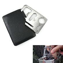 Portable Multi function Emergency Survival Credit Card Knife camping Tool 11 in 1(1Pcs)