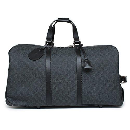 Gucci Women's Black GG Marmont Top Handle Leather Bag Handbag New