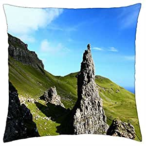 monumental rocks in a valley to the sea - Throw Pillow Cover Case (18
