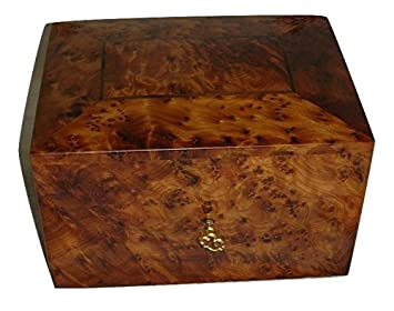 Amazoncom Naturally Med Thuya Wood Jewelry Box with Burl Wood