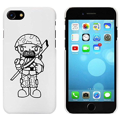 Blanc 'Soldat' étui / housse pour iPhone 7 (MC00057788)