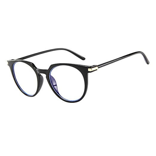 ed18aee38d51 Amazon.com  AMOFINY Fashion Glasses Fashion Oval Round Clear Lens Vintage  Geek Nerd Retro Style Metal Frame  Clothing