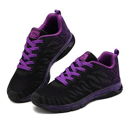 Sport Chaussure Running Noir Violet 35 Femme De Fitness Fille Outdoor 40 Course Mode Fexkean Multisports Rose Basses Gym Basket Sneakers qZ8w4x0nI