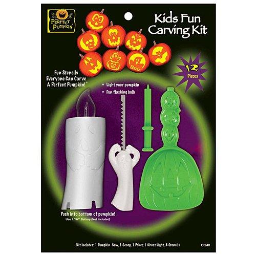 The Perfect Pumpkin Kids Fun Carving Kit]()