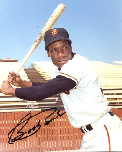 Bobby Bonds (Dec.2003) Autographed/Original Signed 8x10 Photo Shown in San Francisco Giants Uniform (Father of Barry Bonds) - COA