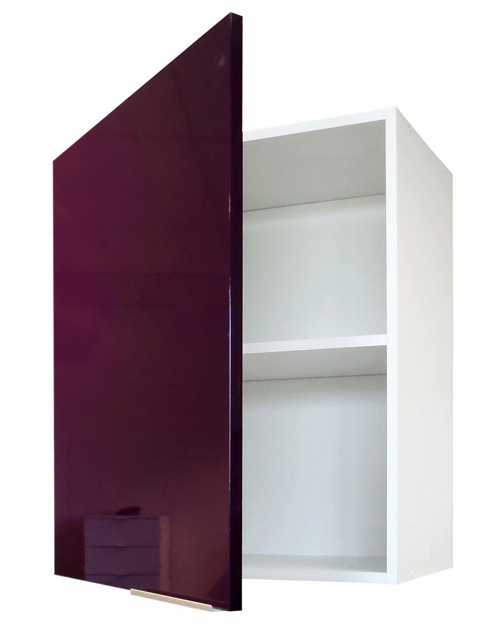 Berlenus CP8HA - Mueble Alto de Cocina (1 Puerta, 60 cm), Color Berenjena Brillante
