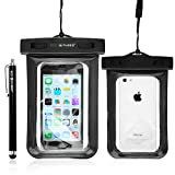 Eco-Fused Premium Waterproof Case with IPX8 Certificate for iPhone 5S, 5, 4G, 4 3, iPod Touch 3, 4, 5; Samsung Galaxy S5, S4, S3 Mini - Stylus and Microfiber Cleaning Cloth Included