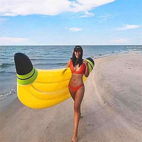 SXC Gigante Plátano Inflable Fila Flotante Cama, Agua de ...