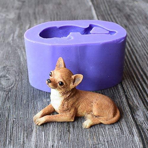 Bulldogge Seife Kuchen Fondant ADUSA 3D-Silikonform f/ür Schokoladenkuchen