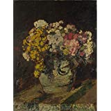 Oil painting 'Adolphe Monticelli - A Vase of Wild Flowers,probably 1870-80' printing on high quality polyster Canvas , 24x32 inch / 61x81 cm ,the best Gym artwork and Home gallery art and Gifts is this Amazing Art Decorative Canvas Prints