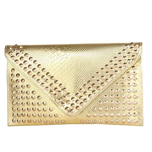 Señoras De La Cena Damas Bolsa Sobre Bolsa De Cosméticos De Teléfono Móvil Bolsa Gold