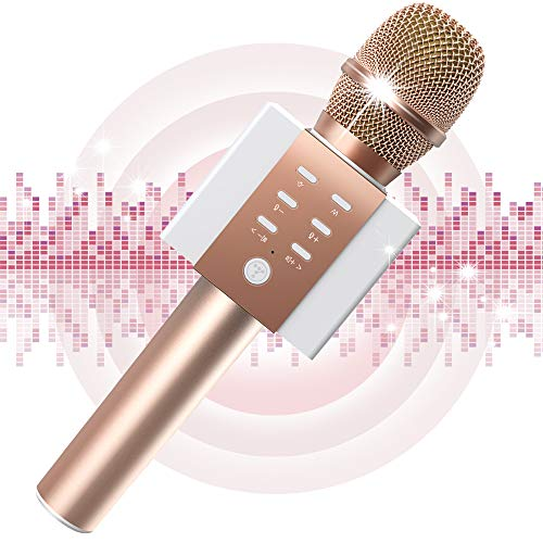 TOSING Wireless Karaoke Microphone, Louder Surrounding Stereo, Bluetooth Handheld Portable Karaoke Machine, Top Birthday Easter Gifts Ideas for Teens and Adults, Compatible with iPhone Android Phones