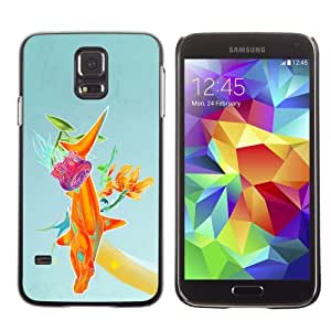 Licase Hard Protective Case Skin Cover for Samsung Galaxy S5 - Abstract Color Illustration