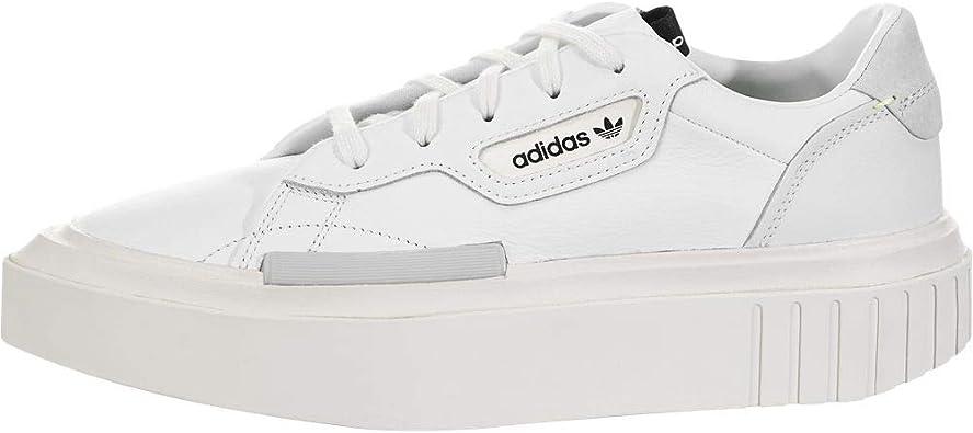 adidas Womens Hypersleek Platform Sneakers Shoes Casual - White