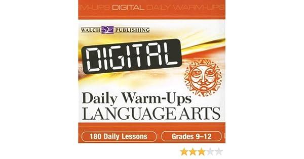 Amazon.com: Digital Daily Warm-ups: Language Arts, Grades 9-12 ...