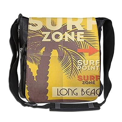 cc128a4da0 high-quality Lovebbag Vintage Surf Poster With Palm Tree Beach Ocean Exotic  Sports Crossbody Messenger