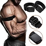 PDTO 2pcs Occlusion Muscle Training Bands for Blood Flow Restriction Arms and Legs Elastic Bands