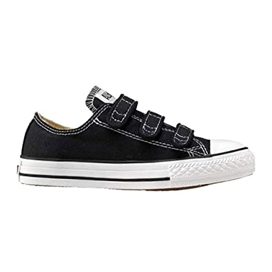 9e08b6a6411aab Converse Kids Chuck Taylor All Star 3 Strap (Little Kid) Black 2 M