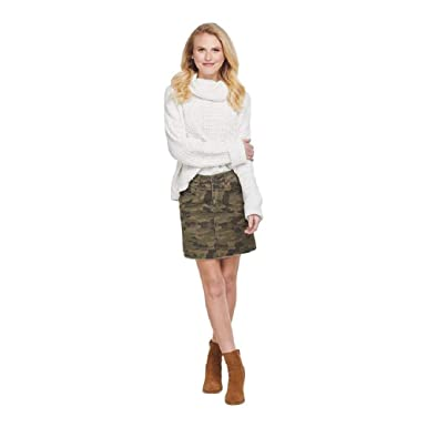 Mud Pie Stevie - Falda para Mujer, diseño de Camuflaje, Color ...