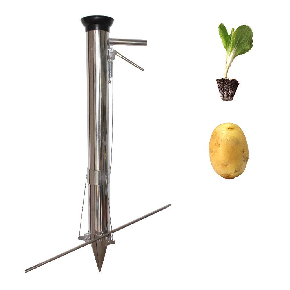 iLOT Long Handled Bulb Planter Tools and Vegetable Seedling Transplanter