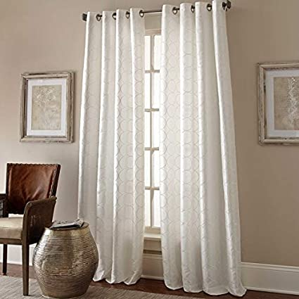 Image Unavailable Not Available For Color Spencer Home Decor Manhattan 95quot Grommet Top Embroidered Curtain Panel