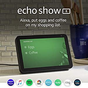 Echo Show 8 -- HD smart display with Alexa – stay connected with video calling - Charcoal 10