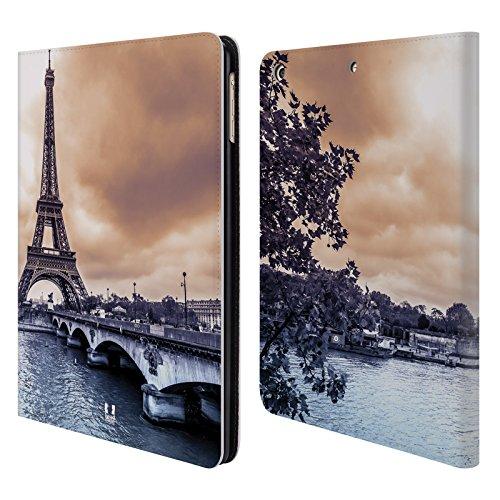 Head Case Designs Parigi Skyline Citta Cover a portafoglio in pelle per Apple iPad Air
