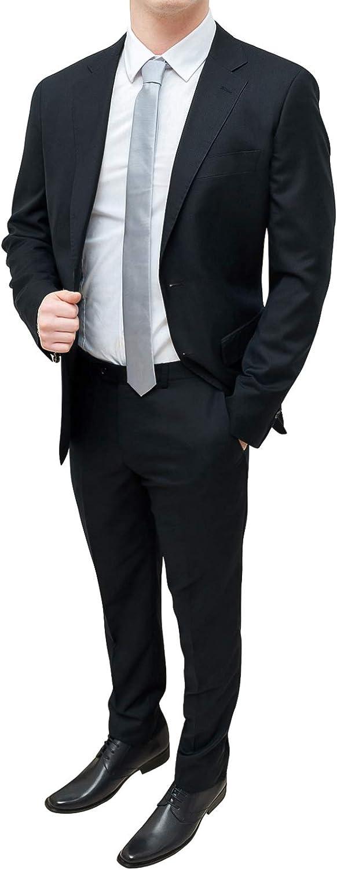 FB CLASS Giacca Blazer Uomo Grigio Scuro Slim Fit Casual