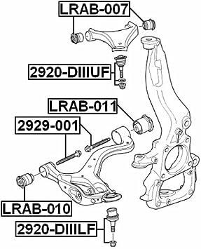 FEBEST # LRAB-011 LR025986-1 Year Warranty