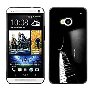 Be Good Phone Accessory // Hard Shell Protective Cover Case for HTC One M7 // Colorful Piano Keys