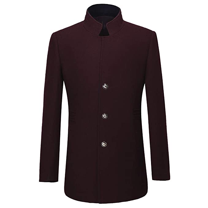 Amazon.com: PASATO - Chaqueta de lana casual para hombre de ...