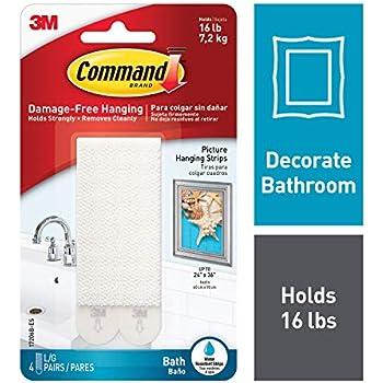 Amazon com: Command Refill Strips, Re-Hang Indoor Hooks