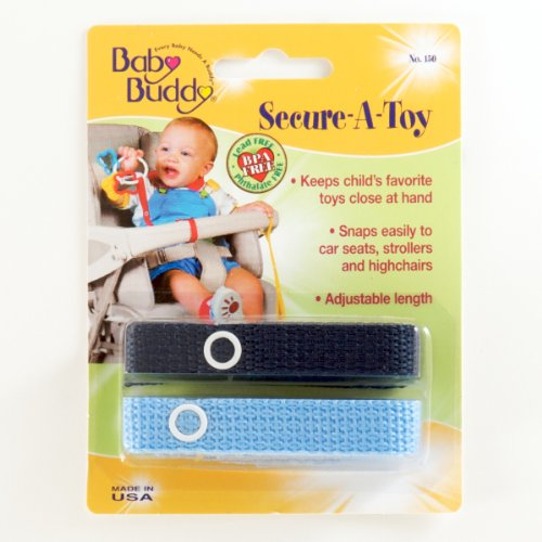 Baby Buddy Secure-A-Toy 2ct Navy-Blue - Case of 24 by Baby Buddy