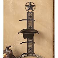 Lone Star Rustic Cowboy Hat Rack - Southwestern Decor