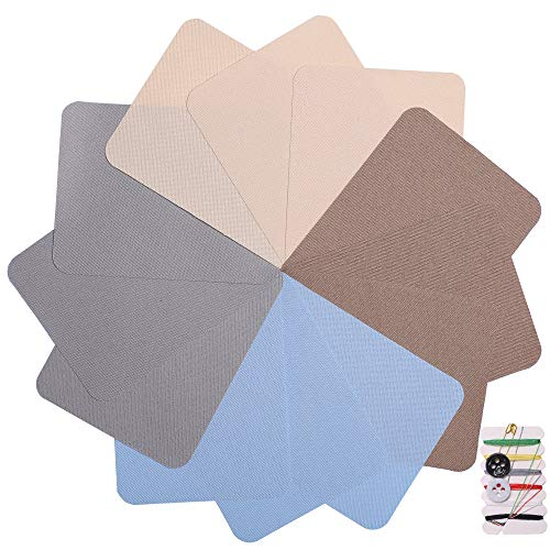 4.9in x 3.7in 12 Pieces Square 4 Colors Iron on Patches for Clothing Repair, Decorating Kit, Iron for Jeans & Clothing Repair, Style 3
