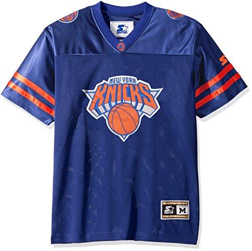 NBA New York Knicks Men's Heritage Football Jersey, 5X, (Twill Football Jersey)