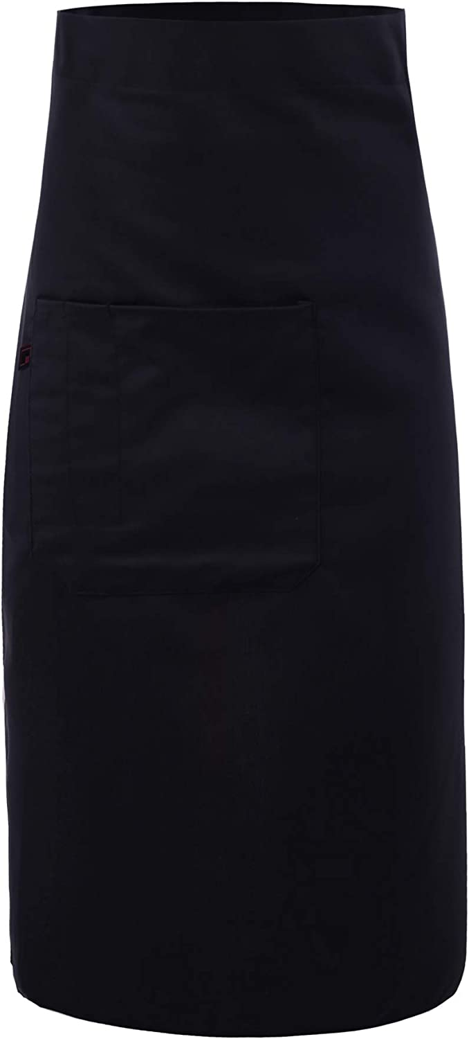 Unisex Durable Adjustable Strap Front Pockets Long Waist Apron Twill Navy OneSize: Home & Kitchen