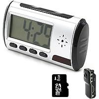 YYCAM Mini Hidden Camera Spy Alarm Clock Nanny Cam [with One More Mini DV and 8GB Micro SD Card]