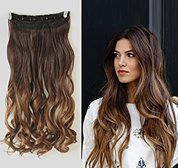 Amazon 20 inches wavy 34 full head clip in hair extensions 20 inches wavy 34 full head clip in hair extensions ombre one piece 2 pmusecretfo Images
