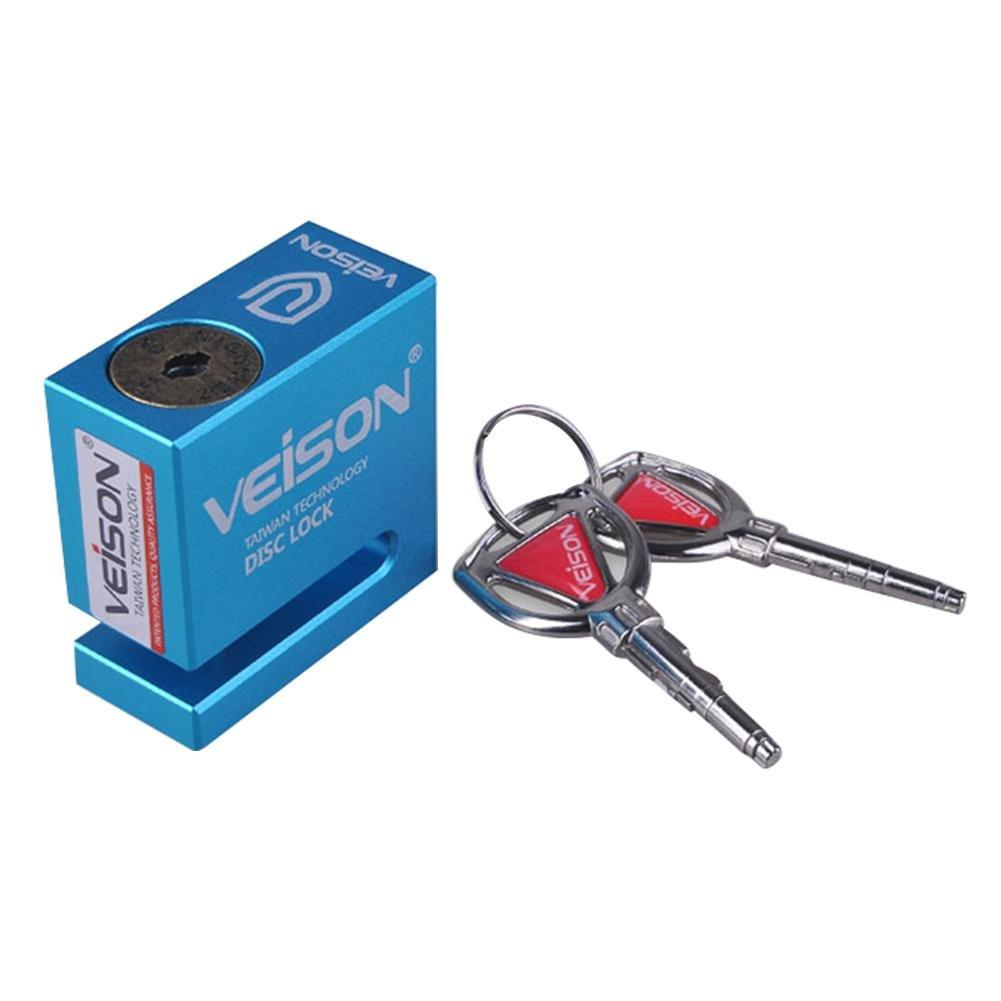 VEISON Moto Lock, DX4Verrou de Frein à Disque de vélo Cadenas à Disque de Frein pour Moto 6mm Durcir Lock Broches avec câble de Rappeler