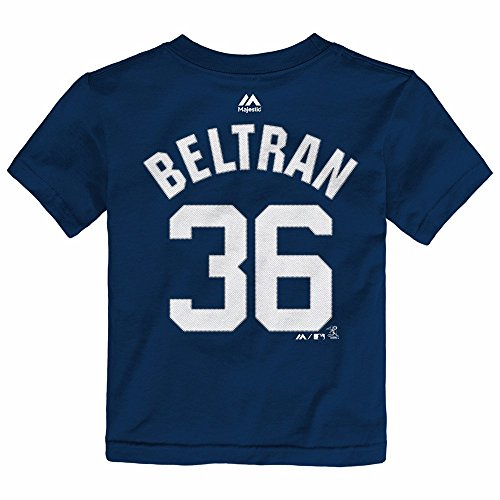 Carlos Beltran New York Yankees MLB Majestic Toddler's Navy Blue Faux Stitch Player Name & Number Jersey T-Shirt (4T)