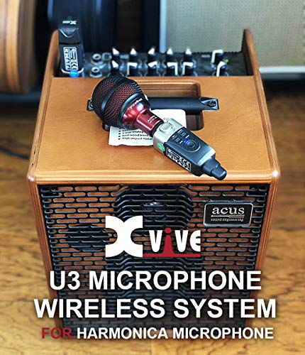 xvive u3 wireless microphone system 2 4g rechargeable fit with xlr dynamic harmonica microphone. Black Bedroom Furniture Sets. Home Design Ideas